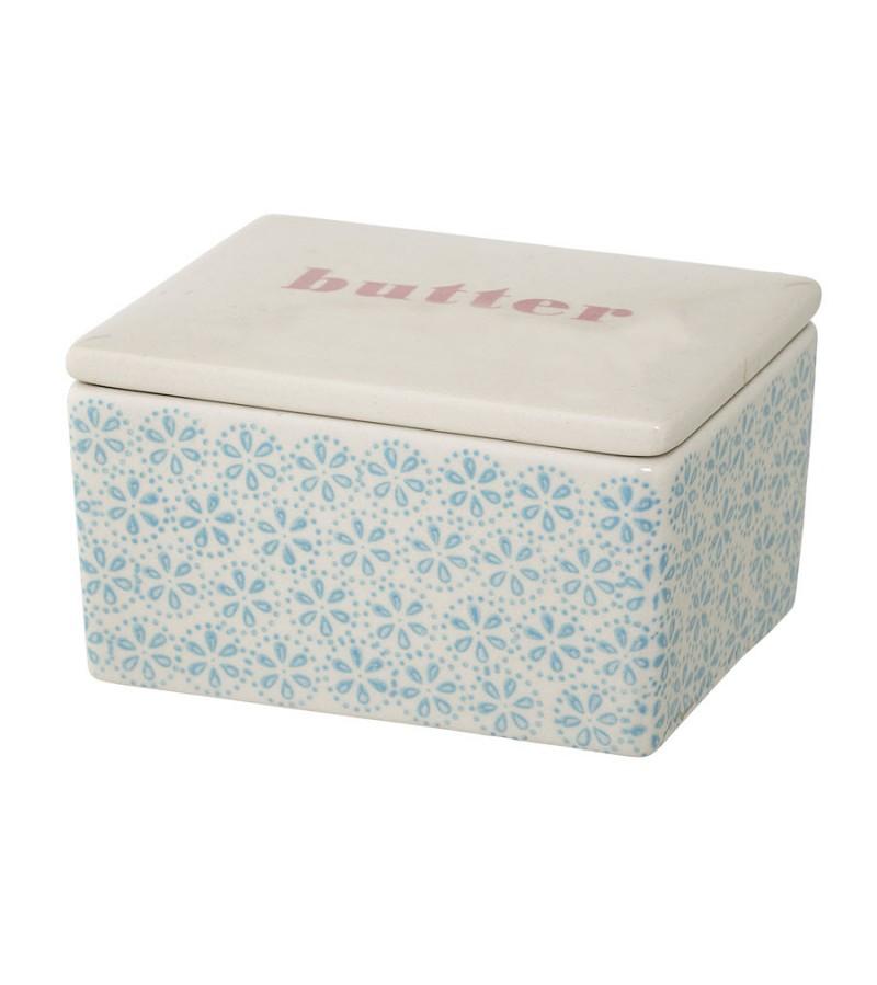 Cutie pentru unt din ceramica albastra Patrizia