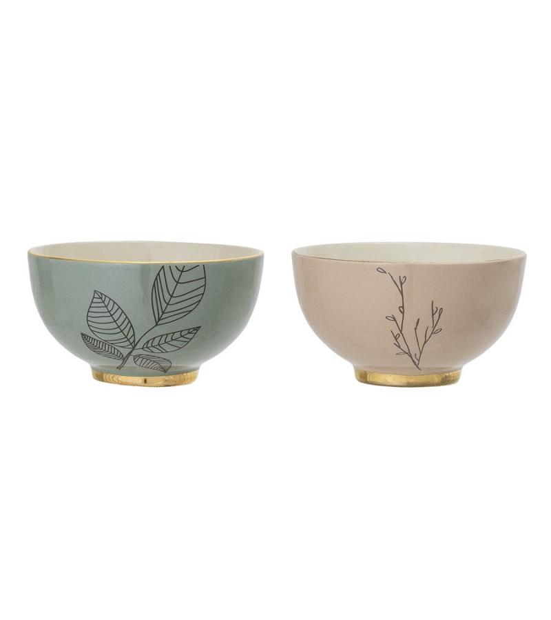 Set 2 boluri din ceramica Rio Bloomingville