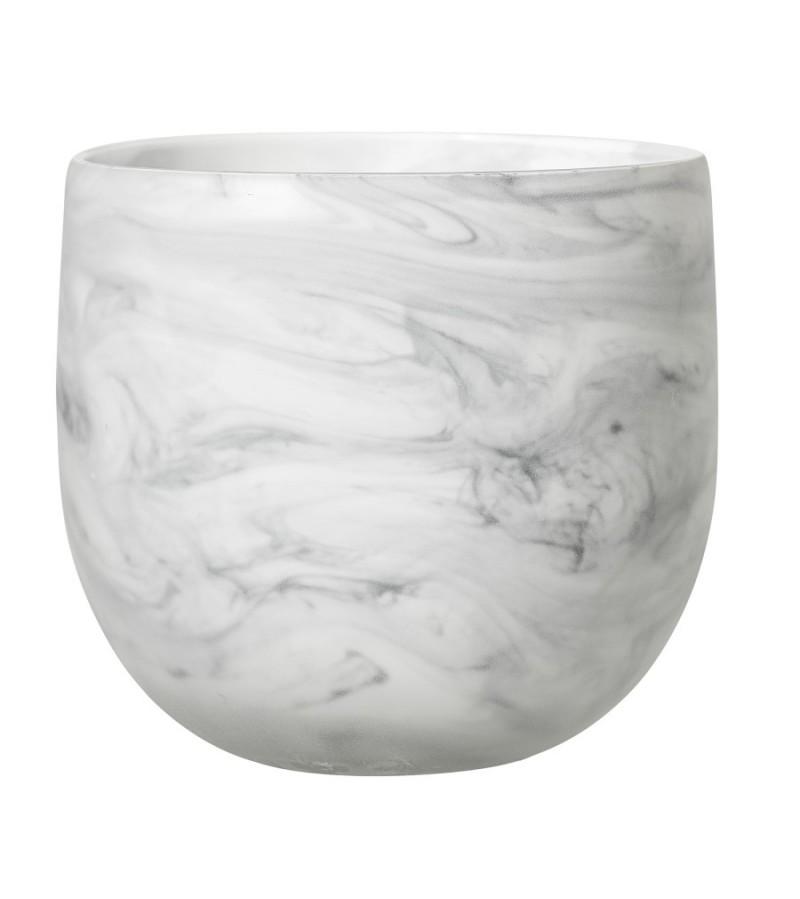 Ghiveci din sticla culoare alb Bloomingville