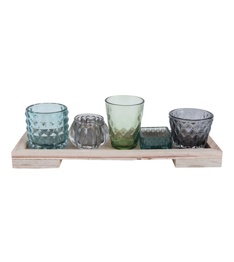 Set Fleur de sel vase decorative pentru lumanari votive Bloomingville