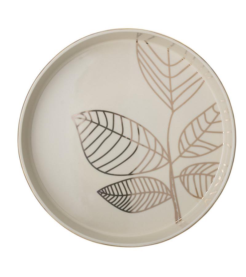 Tava Rio din ceramica alba Bloomingville