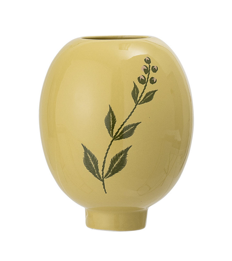 Vaza galbena din ceramica H15 cm Bloomingville
