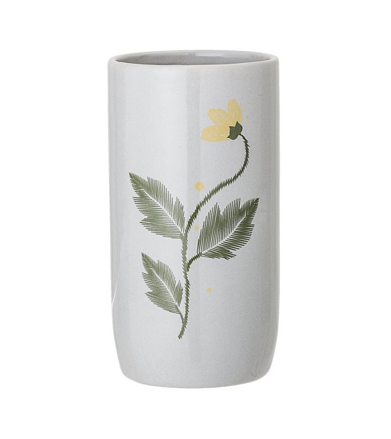 Vaza gri din ceramica H15 cm Bloomingville
