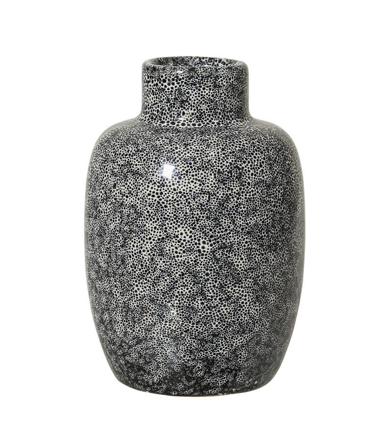 Vaza neagra ceramica H11 cm Bloomingville