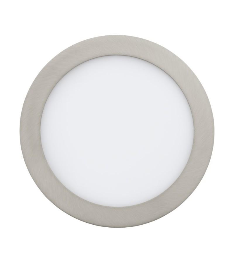 Spot LED incastrat Fueva, Eglo, Nichel, 31676