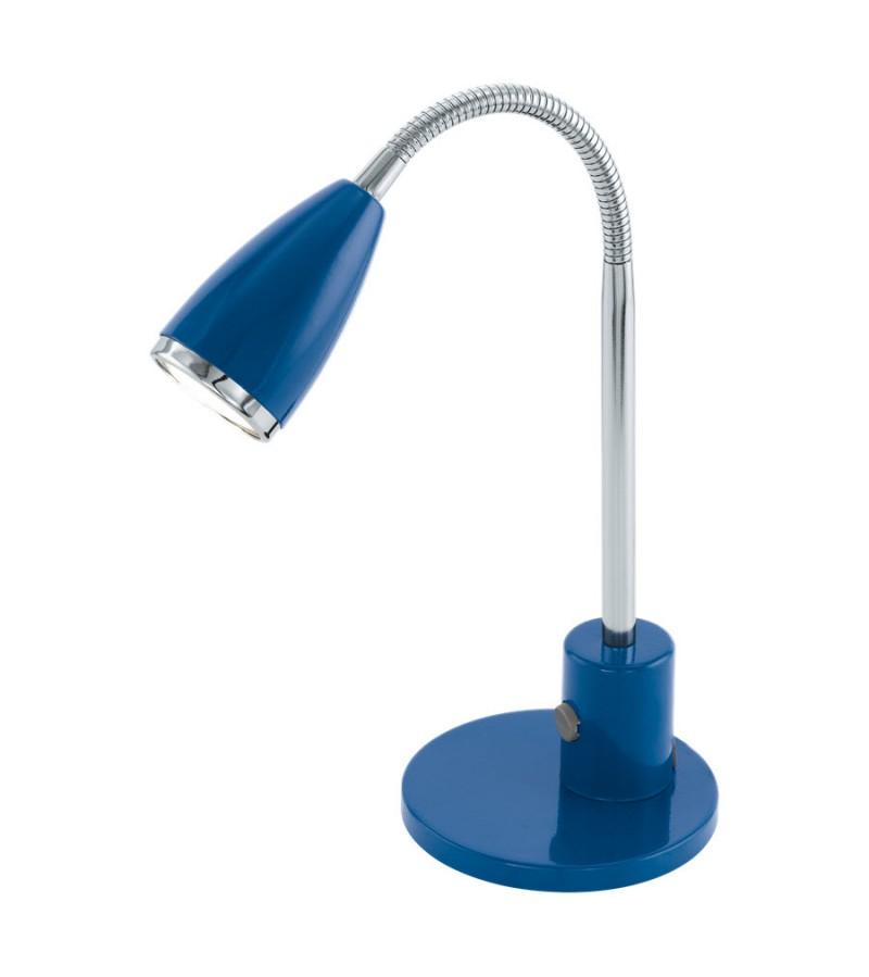 Lampa de birou LED Fox, Eglo, Albastru, 92875