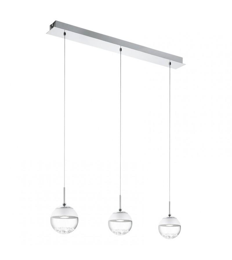 Lustra LED Montefio, Eglo, Crom, 93784