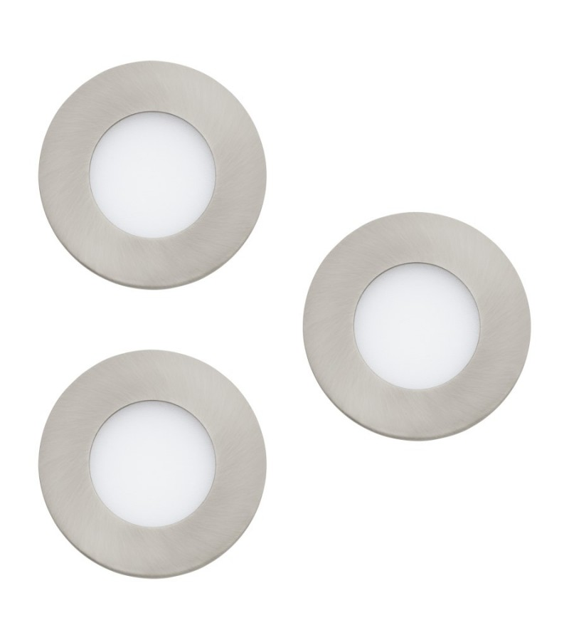 Pachet 3 spoturi LED Fueva Connect, Eglo, Nichel, 32882