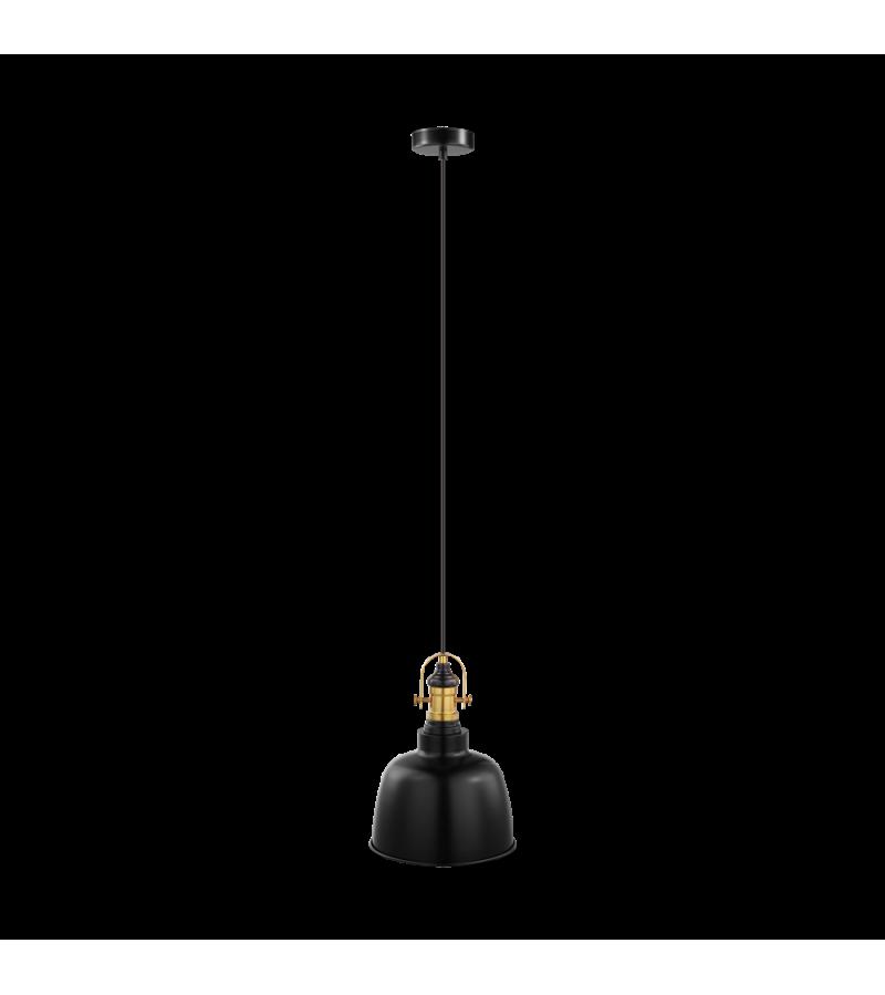 Pendul D25 cm Gilwell, Eglo, Negru, 49839