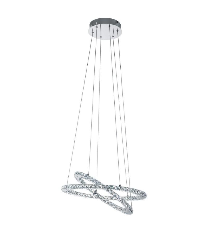 Pendul LED Varrazo, Eglo, Cristal, 31667