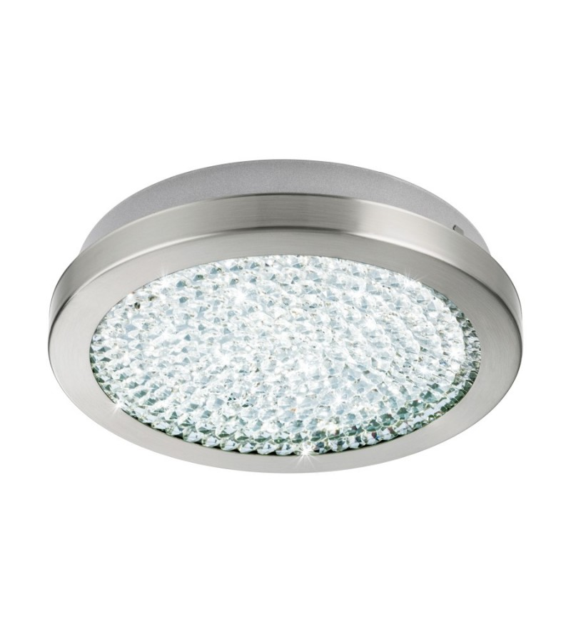 Plafoniera LED D28 cm Arezzo, Eglo, Nichel, 32046