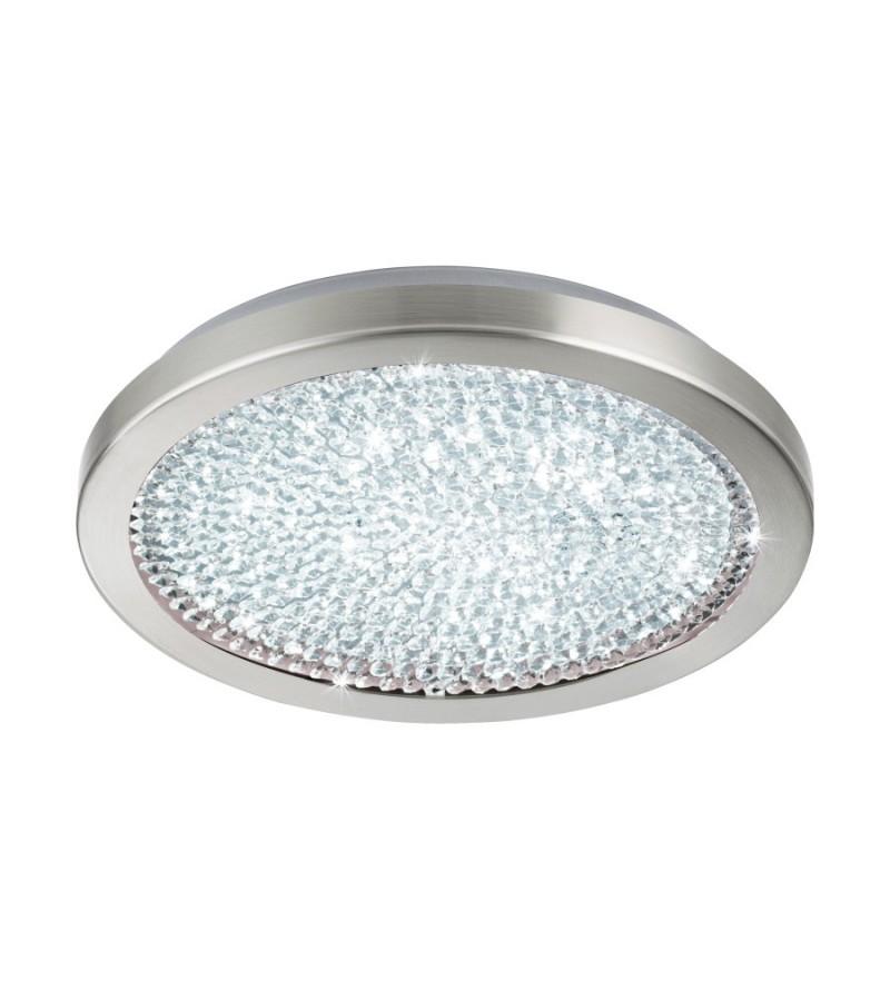 Plafoniera LED D34 cm Arezzo, Eglo, Nichel, 32046