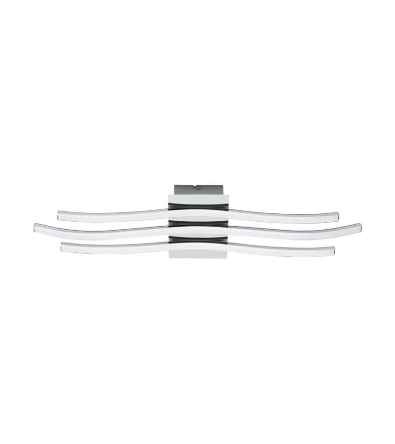 Plafoniera LED Roncade 65 cm, Eglo, Crom-Alb, 31995