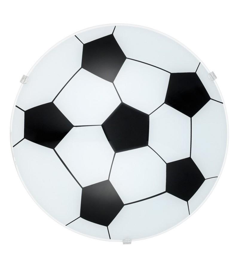 Plafoniera minge fotbal Junior 1, Eglo, Alb-Negru, 87284