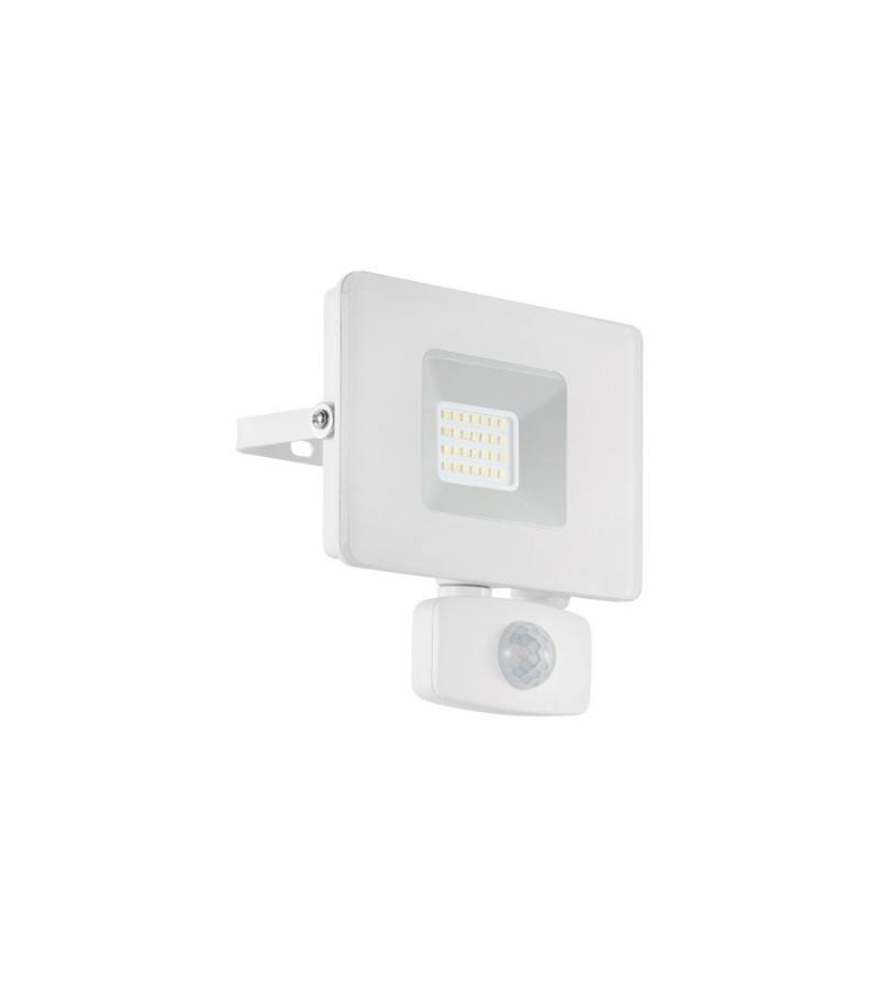 Proiector LED 20W cu senzor de prezenta Faedo, Eglo, Alb, 33157