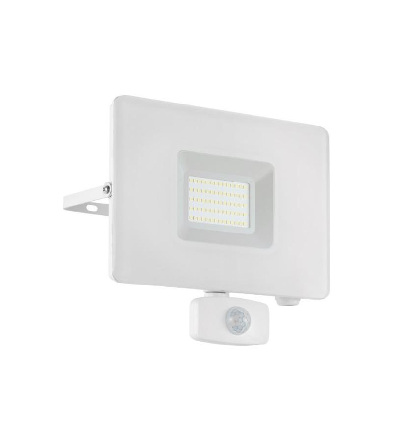 Proiector LED 50W cu senzor de prezenta Faedo, Eglo, Alb, 33159