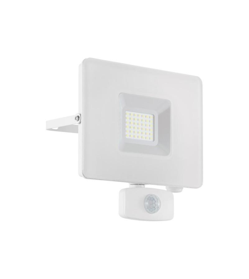 Proiector LED cu senzor de prezenta Faedo 30W, Eglo, Alb, 33158