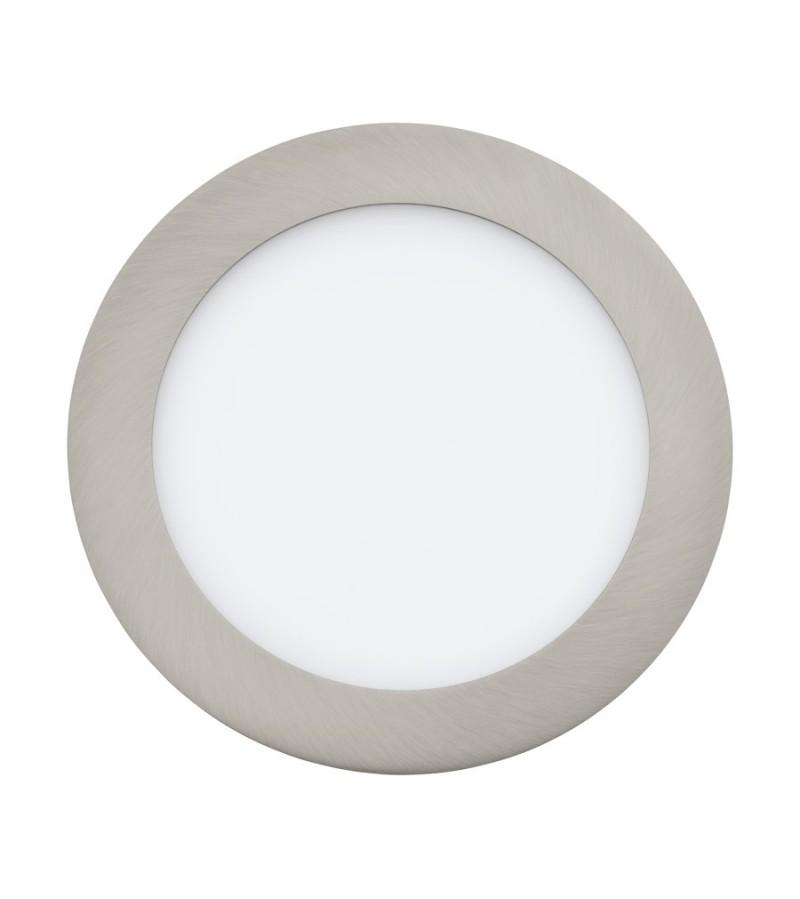 Spot LED incastrat Fueva, Eglo, Nichel, 31672