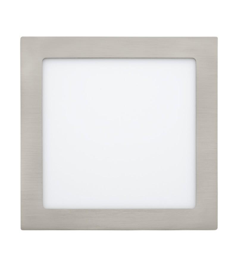 Spot LED incastrat Fueva, Eglo, Nichel, 31678