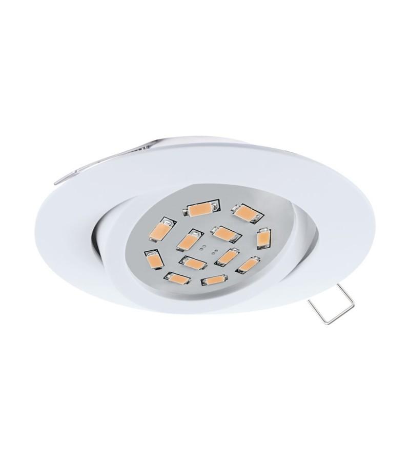 Spot LED incastrat Tedo, Eglo, Alb, 31682