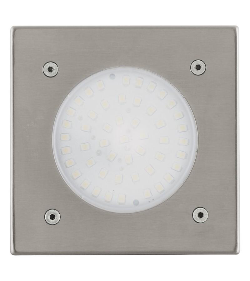 Spot patrat LED Lamedo, Eglo, Inox, 93481